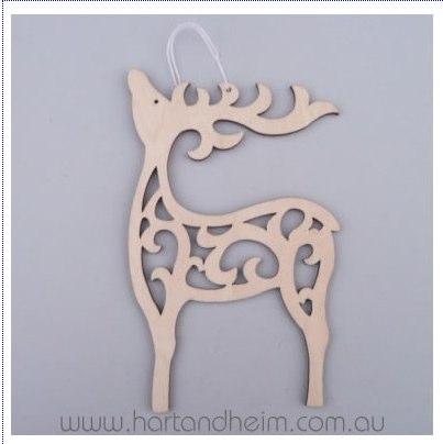 wood-floral-deer
